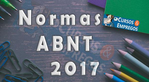 Cursos e Empregos  Normas ABNT 2017 e Modelos para Trabalhos 2017