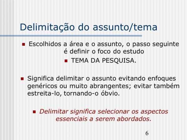 Delimitação do Tema como fazer Delimitação Pronta (5)